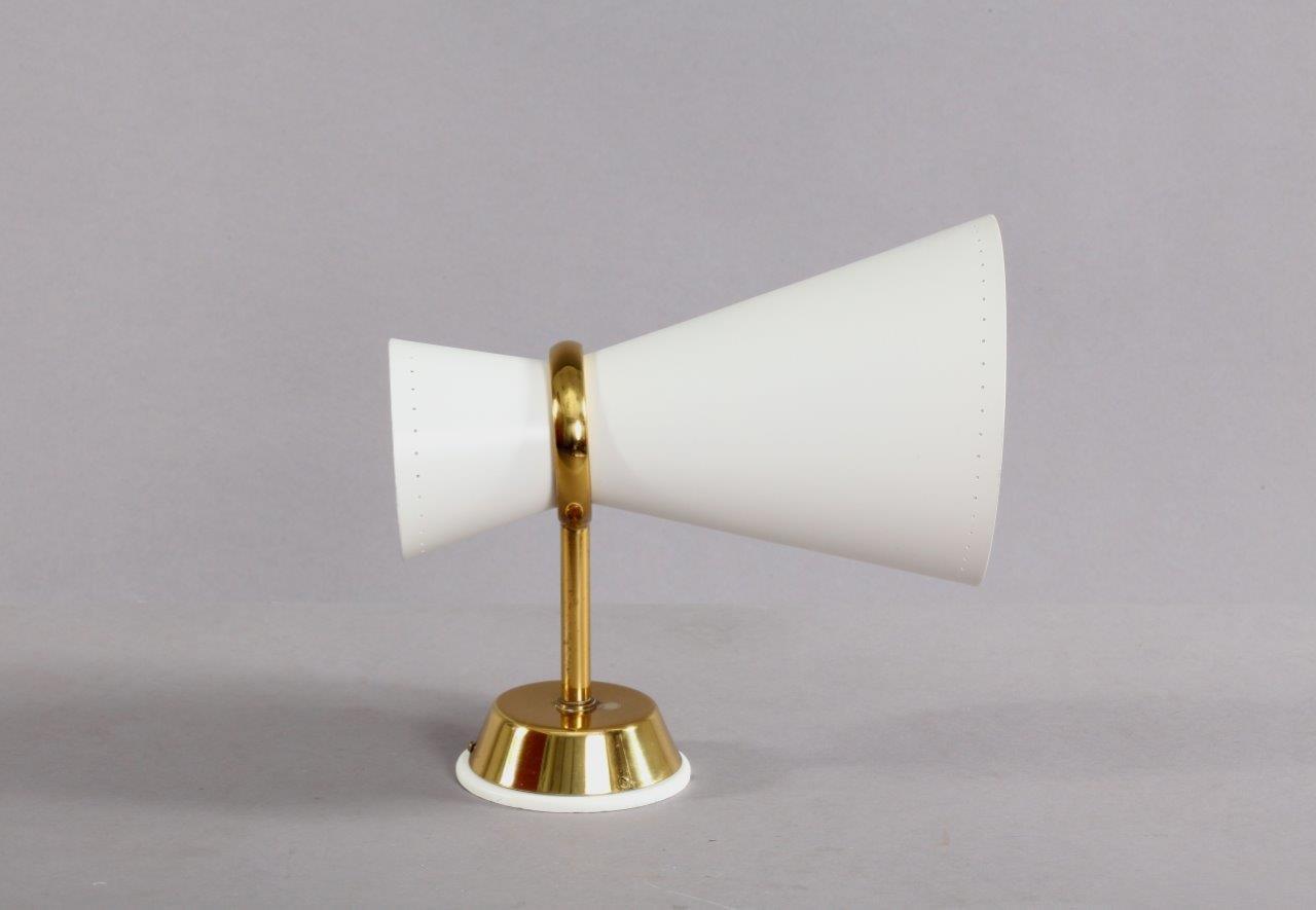 Wandlampe mit Cremefarbenem Lampenschirm, 1950er