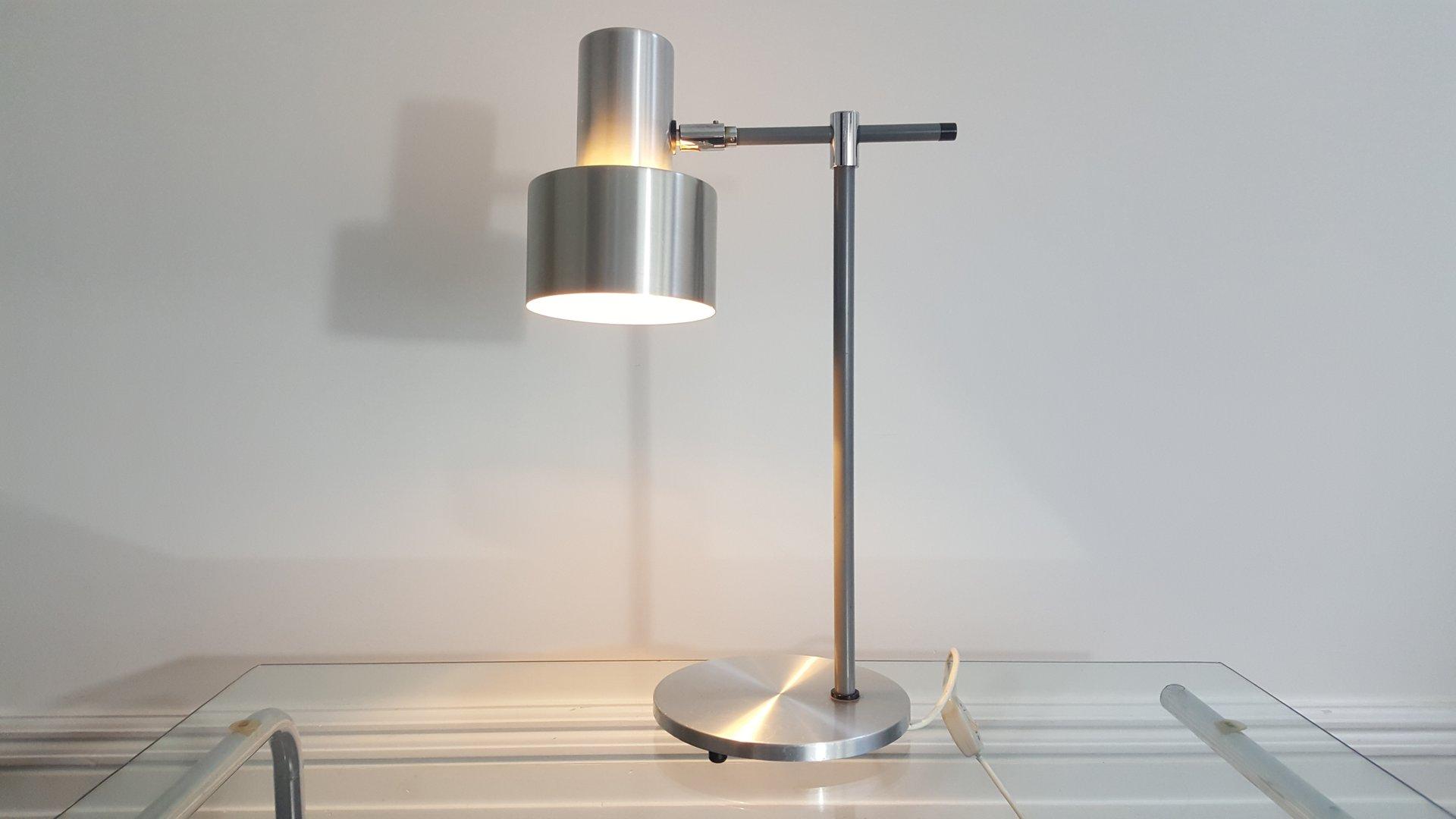 Aluminium Lento Tischlampe von Jo Hammerborg für Fog & Mørup, 1960er