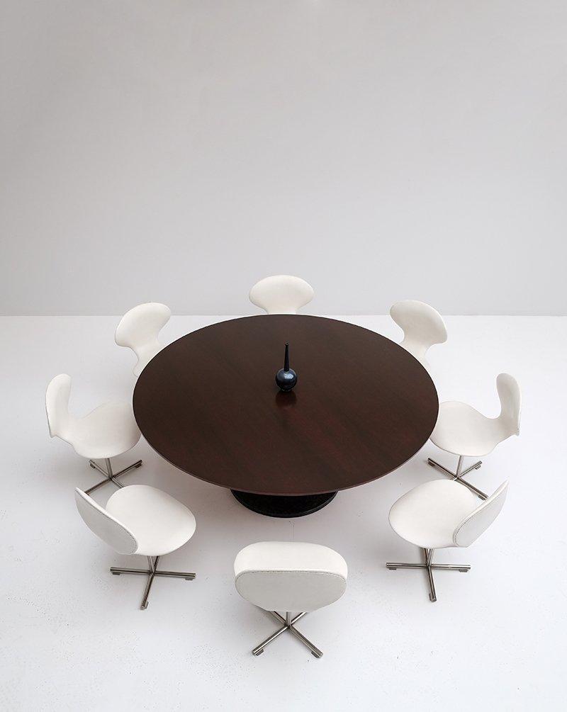 Vintage Ess- oder Konferenztisch mit Drehstühlen von Alfred Hendrickx
