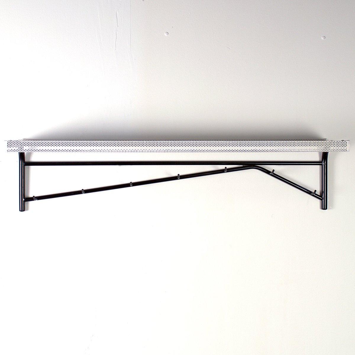 schwarz wei lackierte stahl garderobe 1960er bei. Black Bedroom Furniture Sets. Home Design Ideas