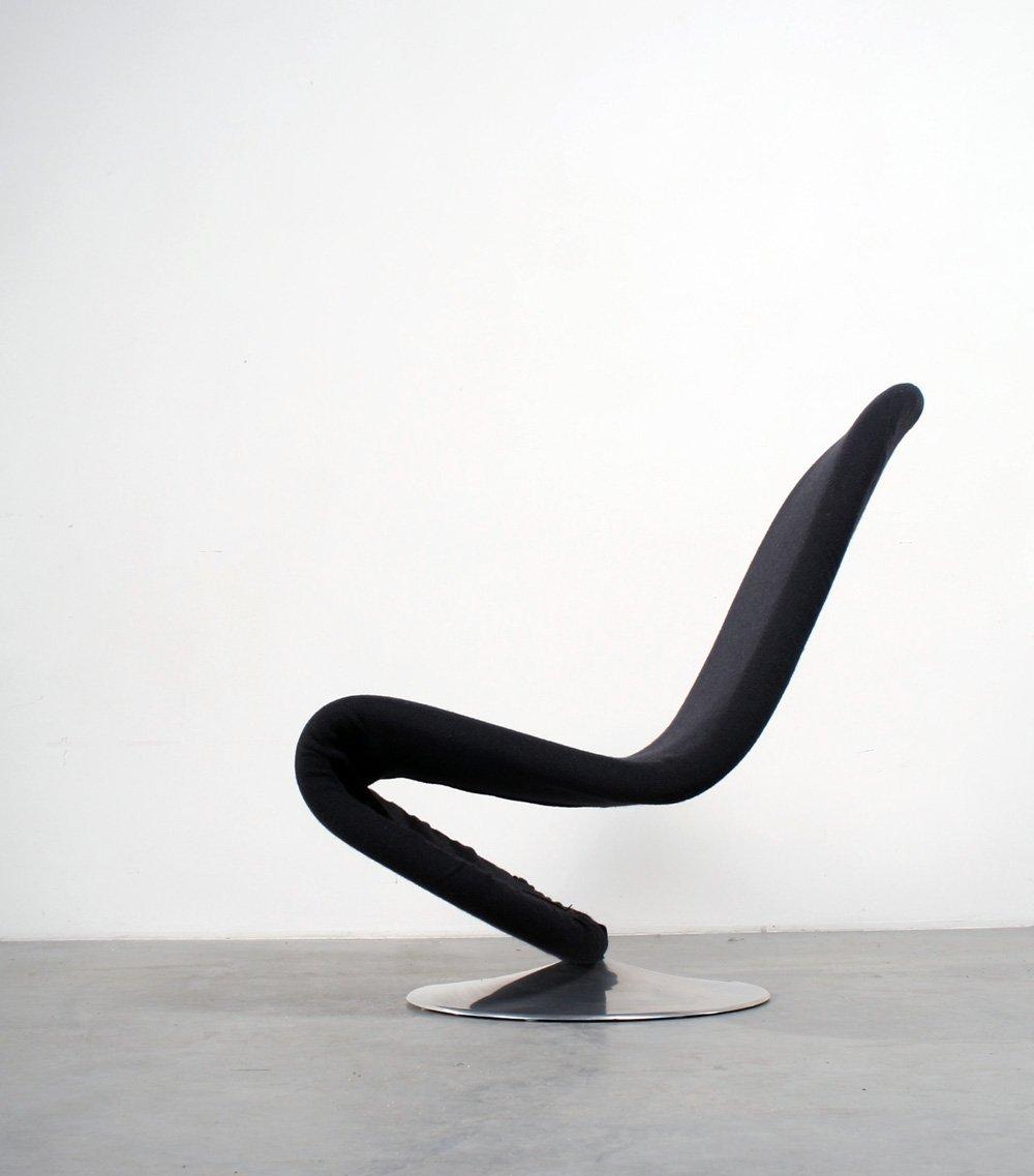 vintage 123 drehstuhl von verner panton f r fritz hansen bei pamono kaufen. Black Bedroom Furniture Sets. Home Design Ideas