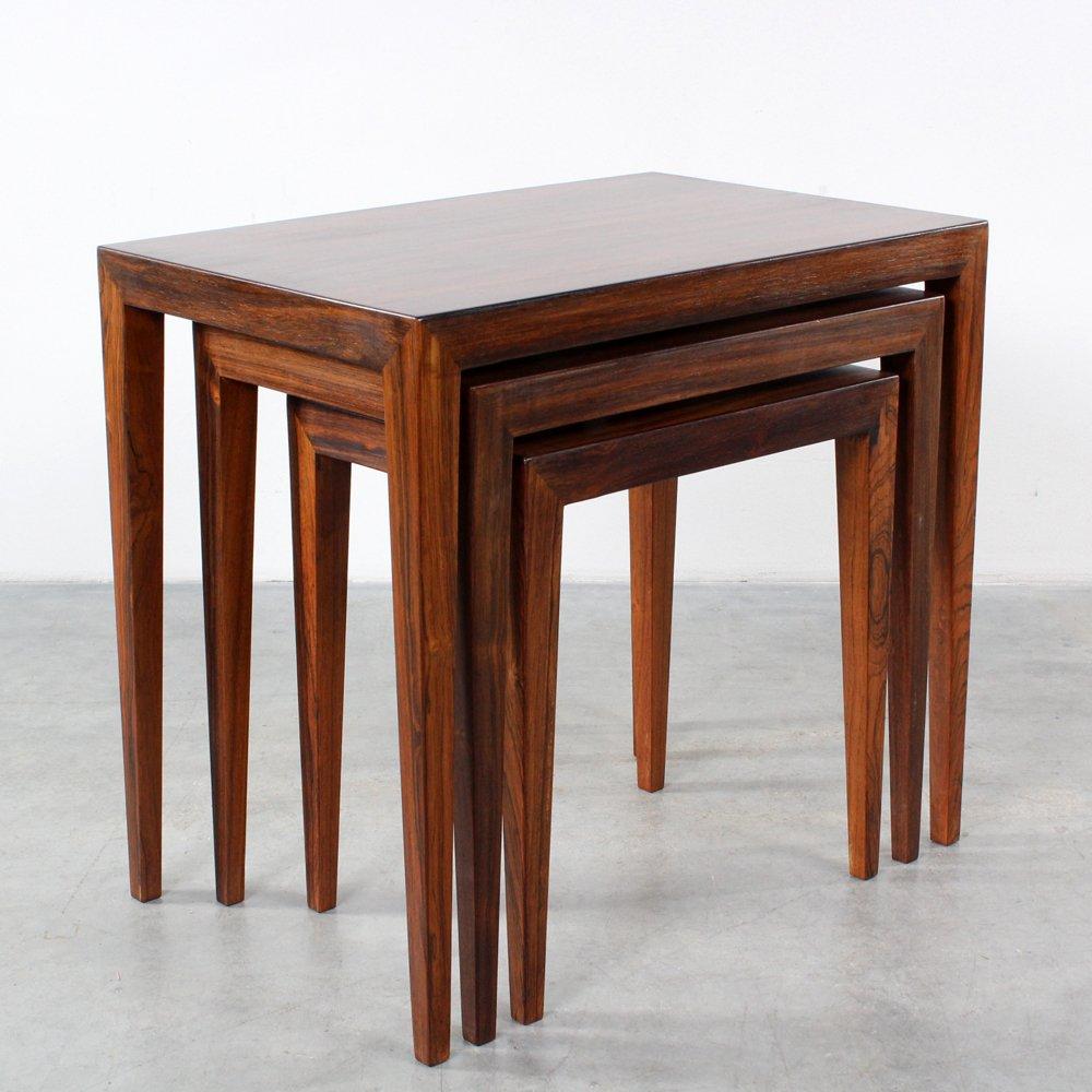 Mid-Century Nesting Tables By Severin Hansen Jr For Haslev