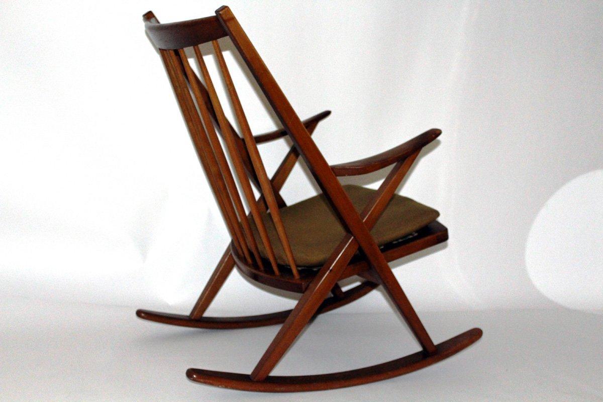 Sedia a dondolo di Frank Reenshang per Bramin, Danimarca, anni \'60 ...