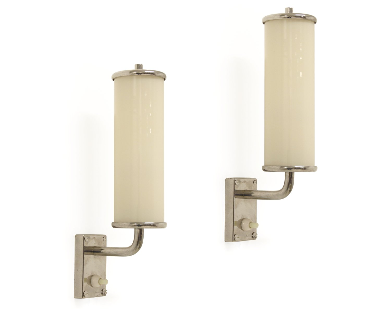 Funktionalistische Mid-Century Wandlampen, 1950er, 2er Set