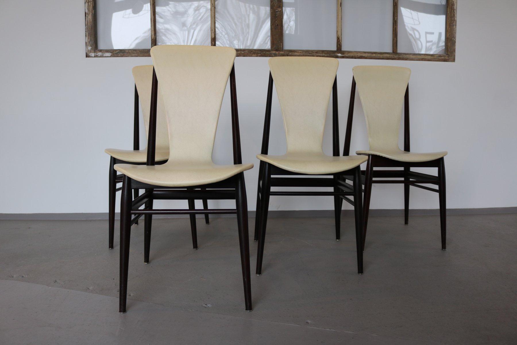 chaises en teck italie 1960s set de 4 en vente sur pamono. Black Bedroom Furniture Sets. Home Design Ideas