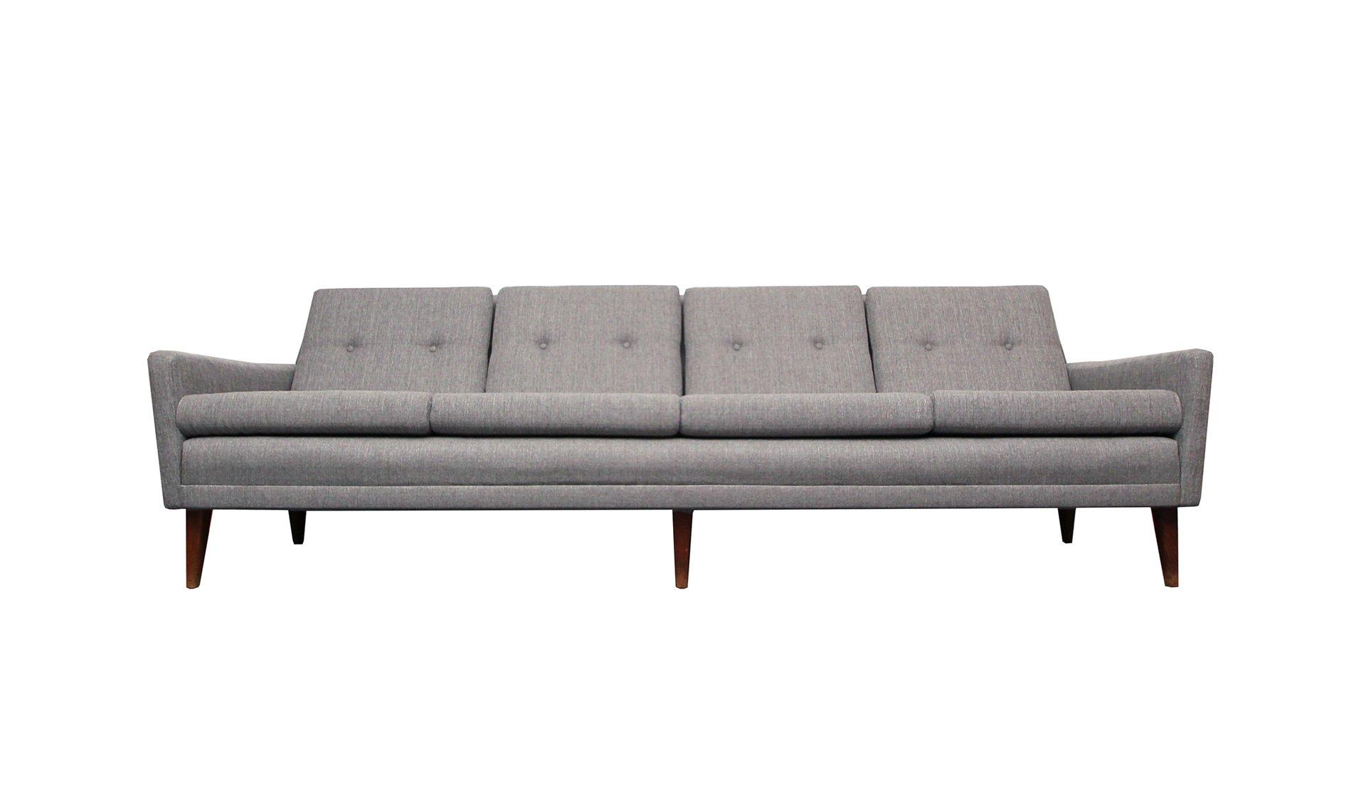 Light Grey Danish Sofa, 1950s