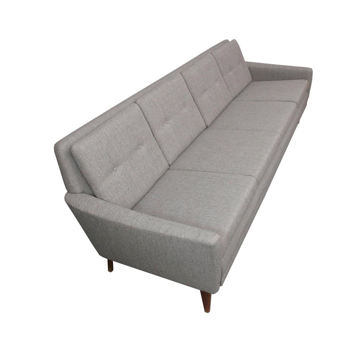 hellgraues d nisches sofa 1950er bei pamono kaufen. Black Bedroom Furniture Sets. Home Design Ideas