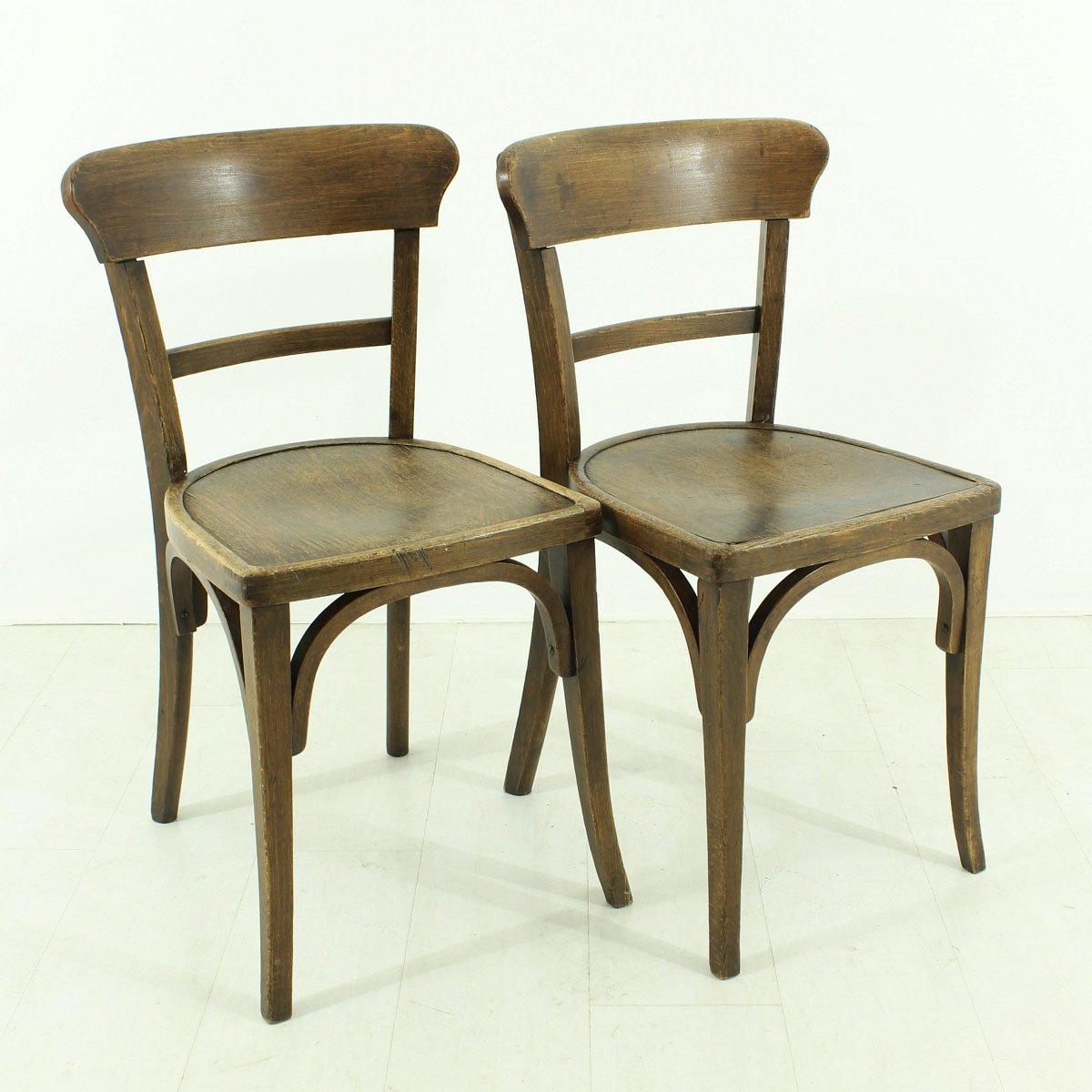 vintage esszimmerst hle 1930er 2er set bei pamono kaufen. Black Bedroom Furniture Sets. Home Design Ideas