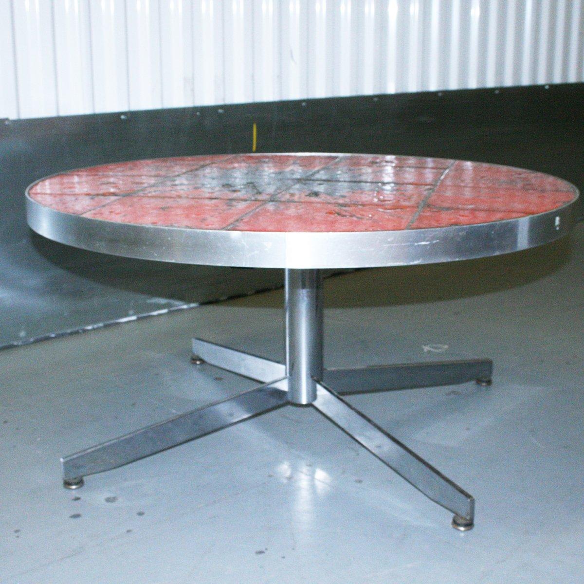 table basse avec plateau en c ramique danemark 1960s en vente sur pamono. Black Bedroom Furniture Sets. Home Design Ideas