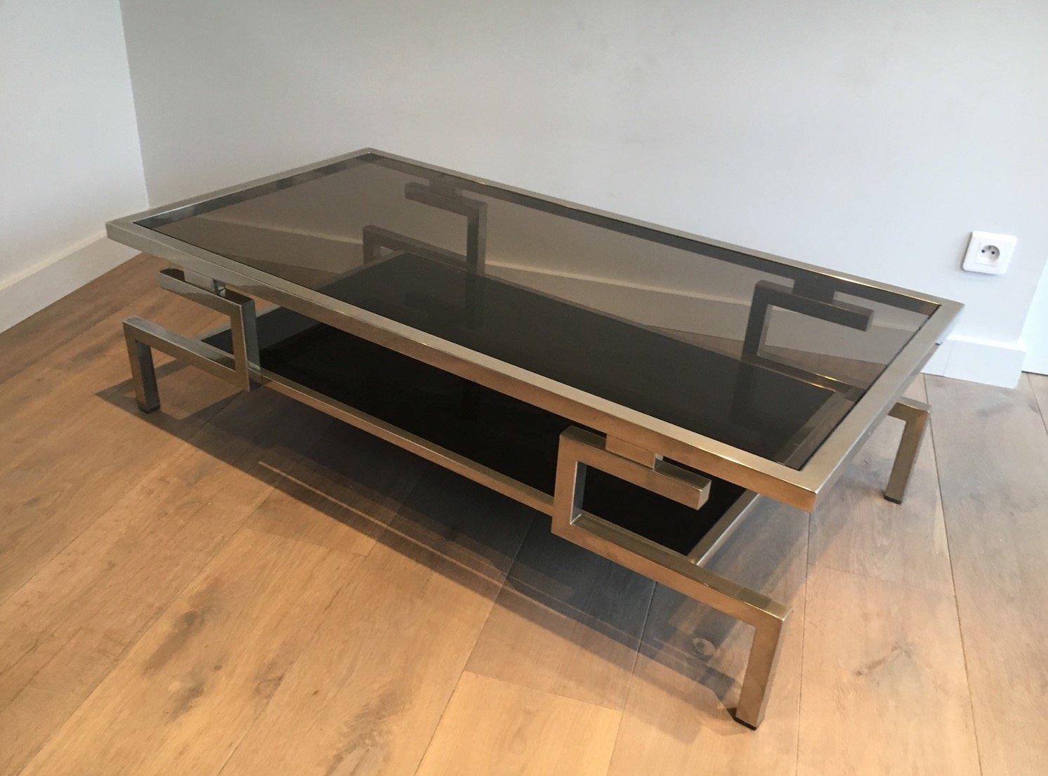 table basse moderniste en chrome 1970s en vente sur pamono. Black Bedroom Furniture Sets. Home Design Ideas