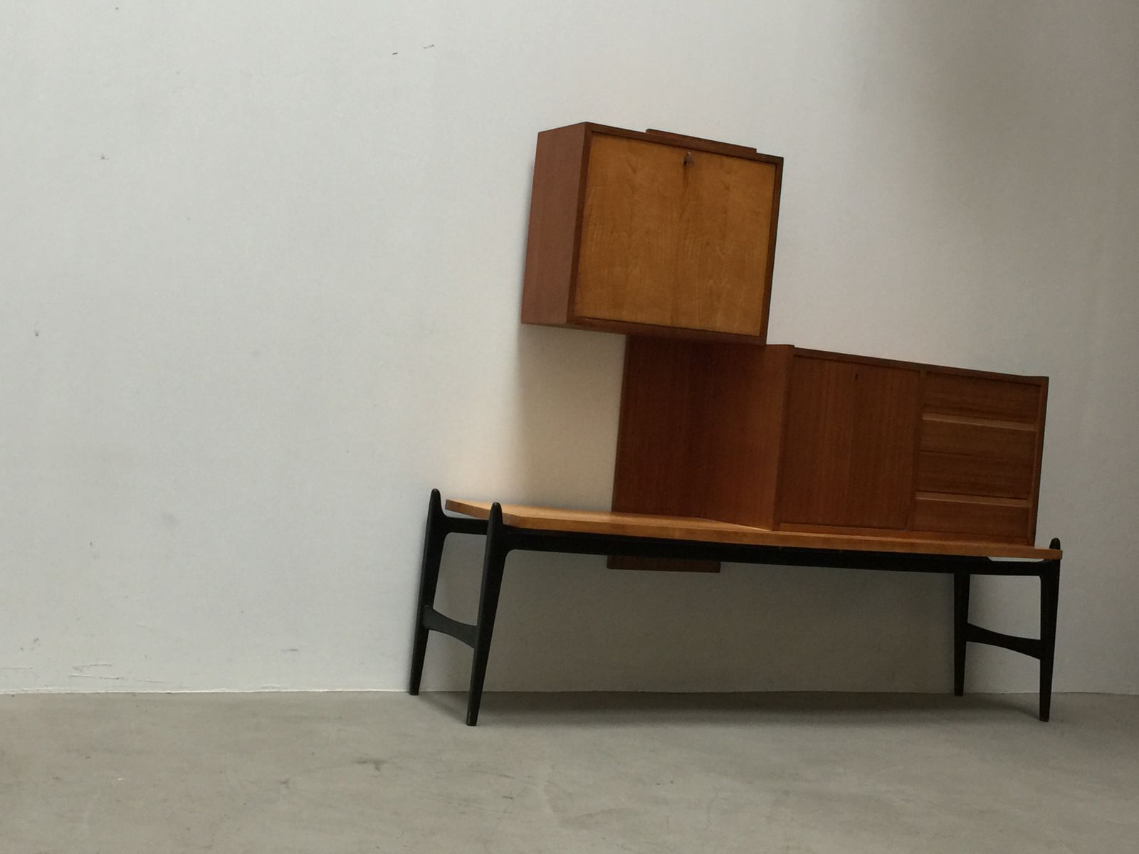 barschrank von jos de mey f r luxus 1950er bei pamono kaufen. Black Bedroom Furniture Sets. Home Design Ideas