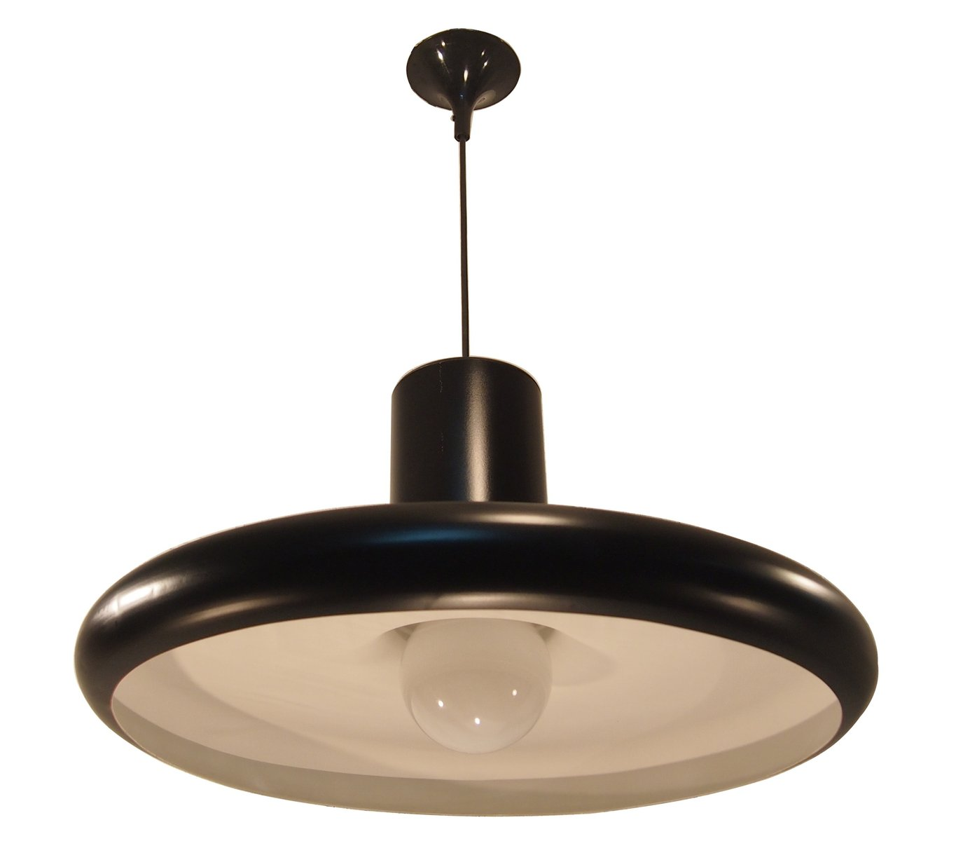 Mid-Century Black Industrial French Pendant Ceiling Light