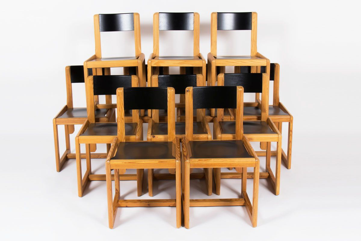 esszimmerst hle von andr sornay 1960er 6er set bei. Black Bedroom Furniture Sets. Home Design Ideas