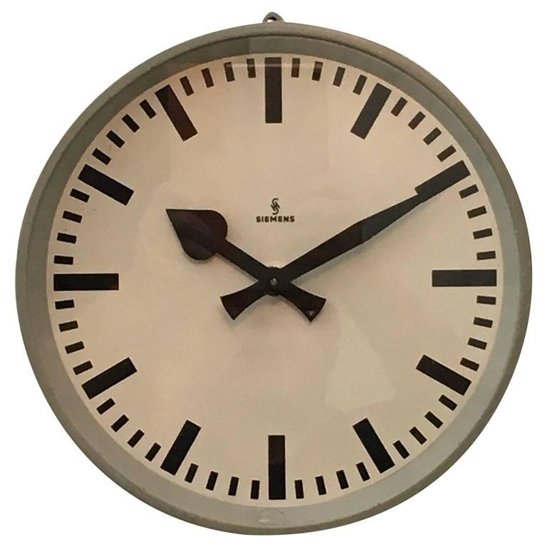 Factory Wall Clock From Siemens 1950s For Sale At Pamono