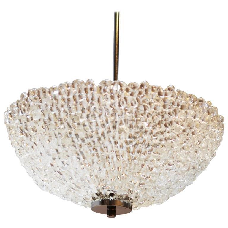 Plexiglas Deckenlampe von Austrolux, 1960er