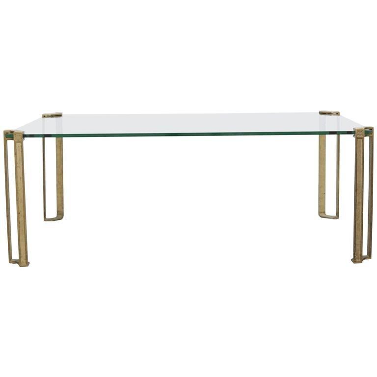 Niedriger Glastisch von Peter Ghyczy