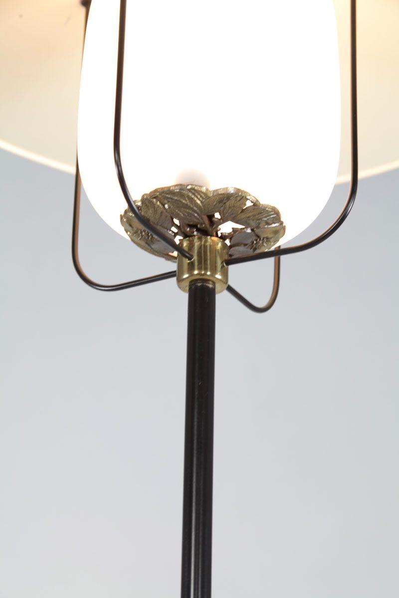 italienische stehlampe aus aluminium messing 1950er bei pamono kaufen. Black Bedroom Furniture Sets. Home Design Ideas
