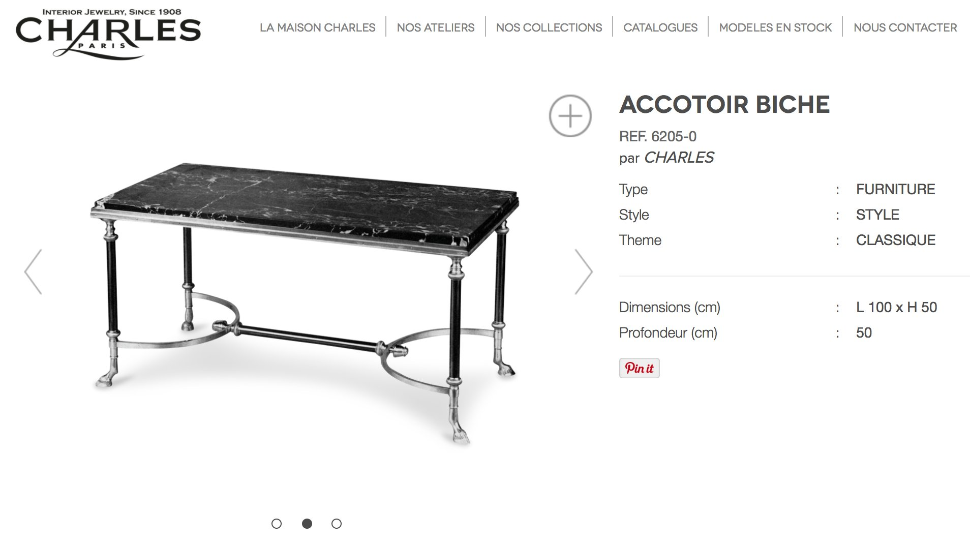 couchtisch von maison charles 1960er bei pamono kaufen. Black Bedroom Furniture Sets. Home Design Ideas