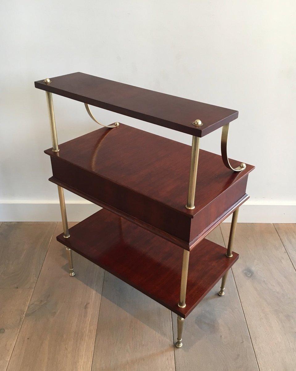 kleiner schrank aus mahagoni messing mit schublade 1940er bei pamono kaufen. Black Bedroom Furniture Sets. Home Design Ideas