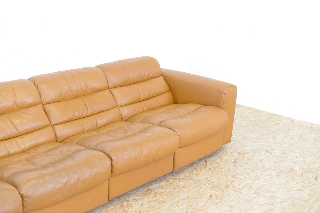 canap vintage 4 places en cuir avec fonction relax de de sede en vente sur pamono. Black Bedroom Furniture Sets. Home Design Ideas