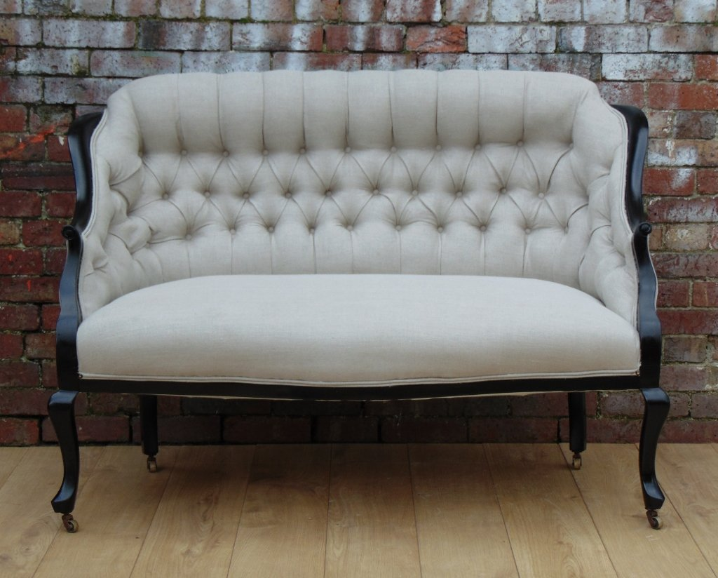 Antique English Salon Sofa For Sale At Pamono