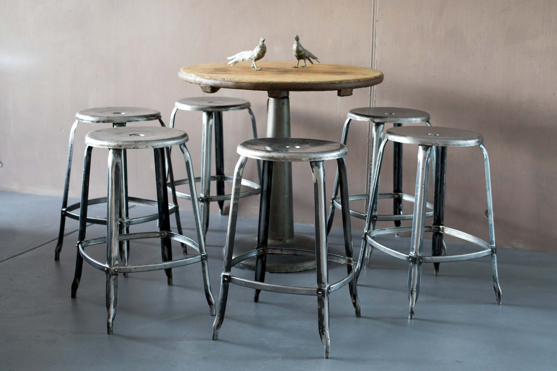 Sgabello grigio di chaises nicolle in vendita su pamono