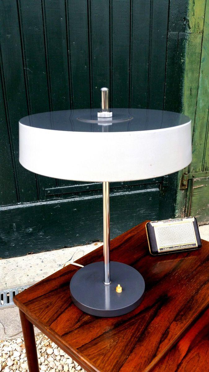 Metall Tischlampe, 1960er