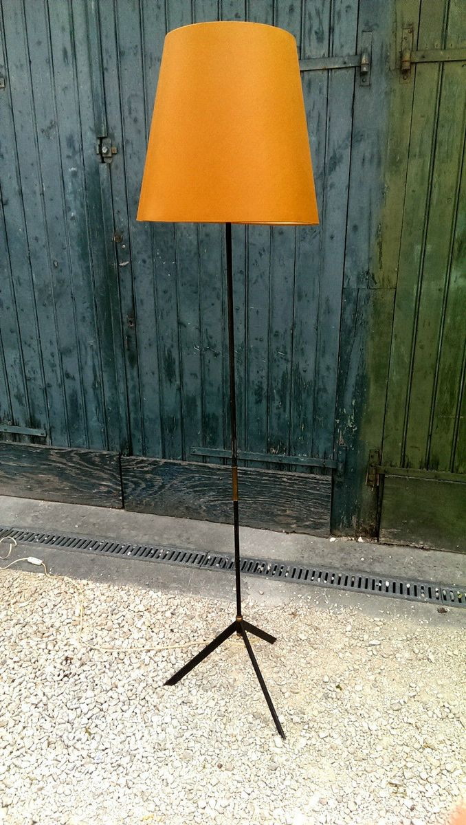 french floor lamp from maison arlus 1950s for sale at pamono. Black Bedroom Furniture Sets. Home Design Ideas
