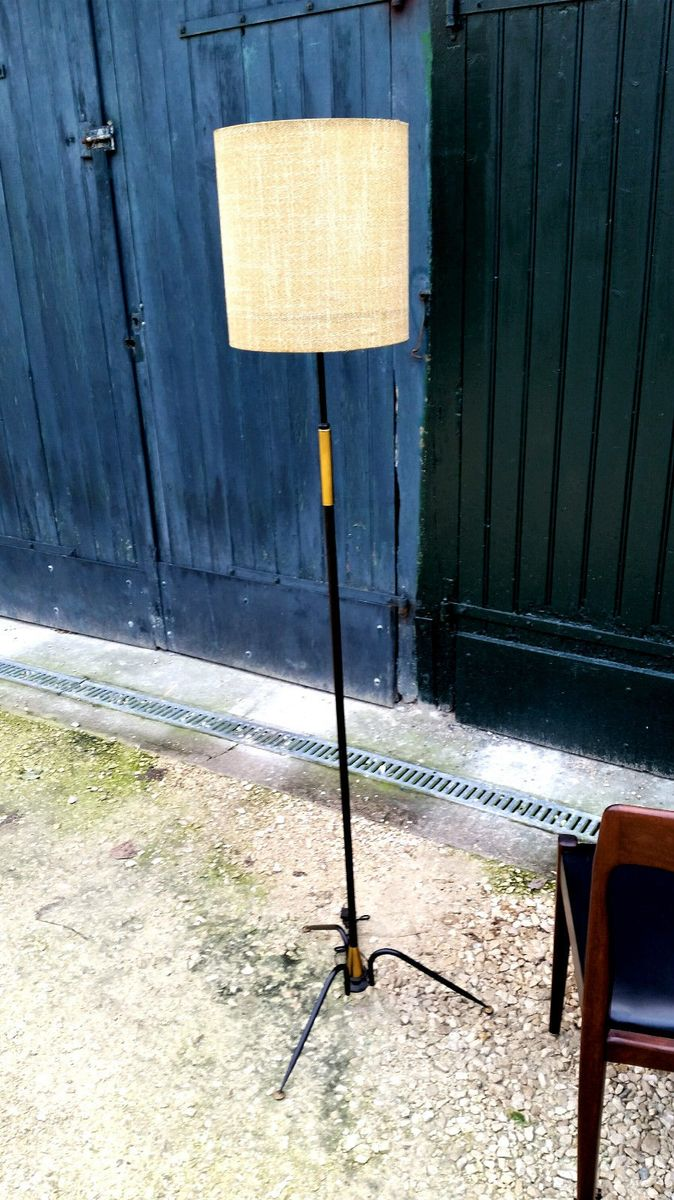 Metall Stehlampe von Lunel, 1960er