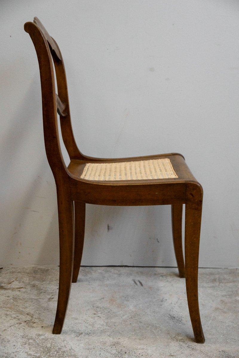 antique biedermeier dining chairs set of 4 for sale at pamono. Black Bedroom Furniture Sets. Home Design Ideas