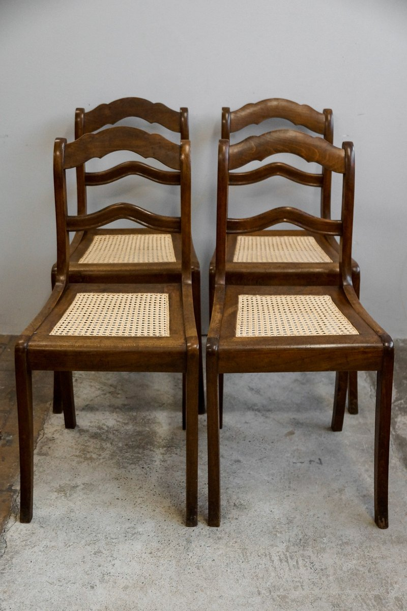Antique Biedermeier Dining Chairs Set Of 4 For Sale At Pamono