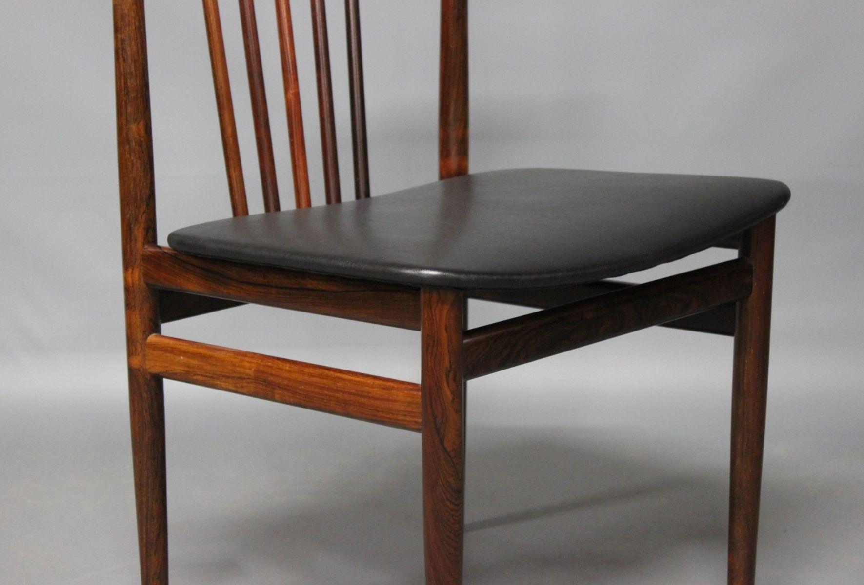 esszimmerst hle von henning s rensen 1968 4er set bei. Black Bedroom Furniture Sets. Home Design Ideas