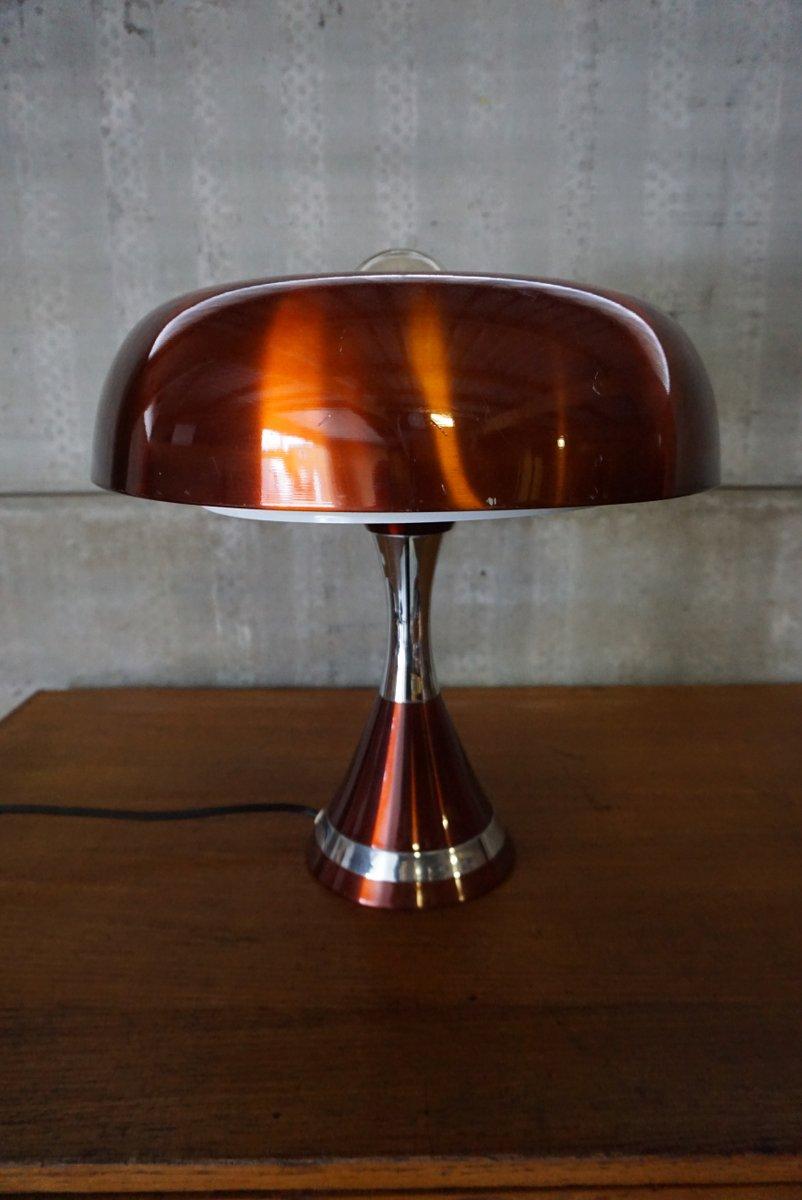 Kupfer Space Age Tischlampe, 1970er