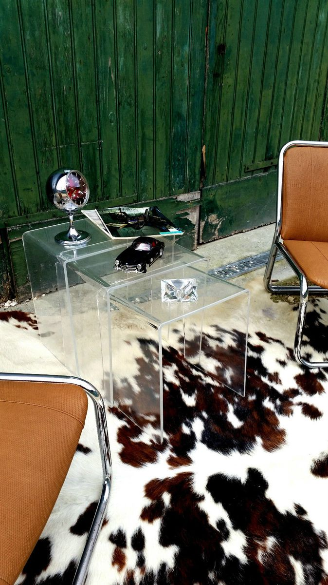 tables gigognes en plexiglas 1970s en vente sur pamono. Black Bedroom Furniture Sets. Home Design Ideas