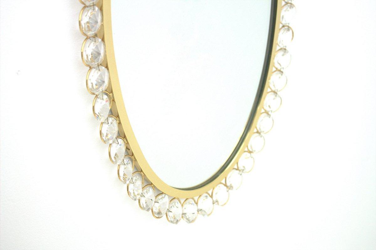 Specchio in cristallo con cornice dorata di ernst palme - Specchio con cornice dorata ...