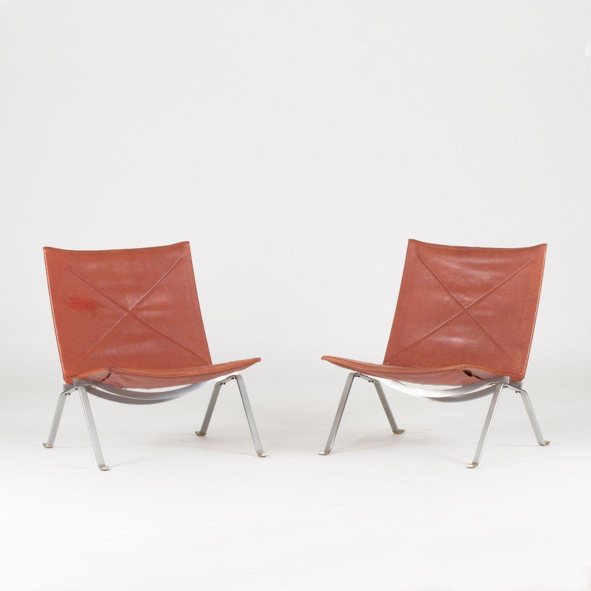 PK 22 Lounge Stühe von Poul Kjæerholm für Kold Christensen, 1950er, 2e...
