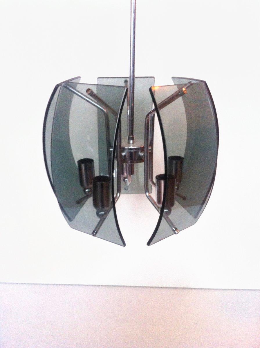 Italienische Space Age Rauchglas Deckenlampe, 1960er | Lampen > Deckenleuchten > Deckenlampen