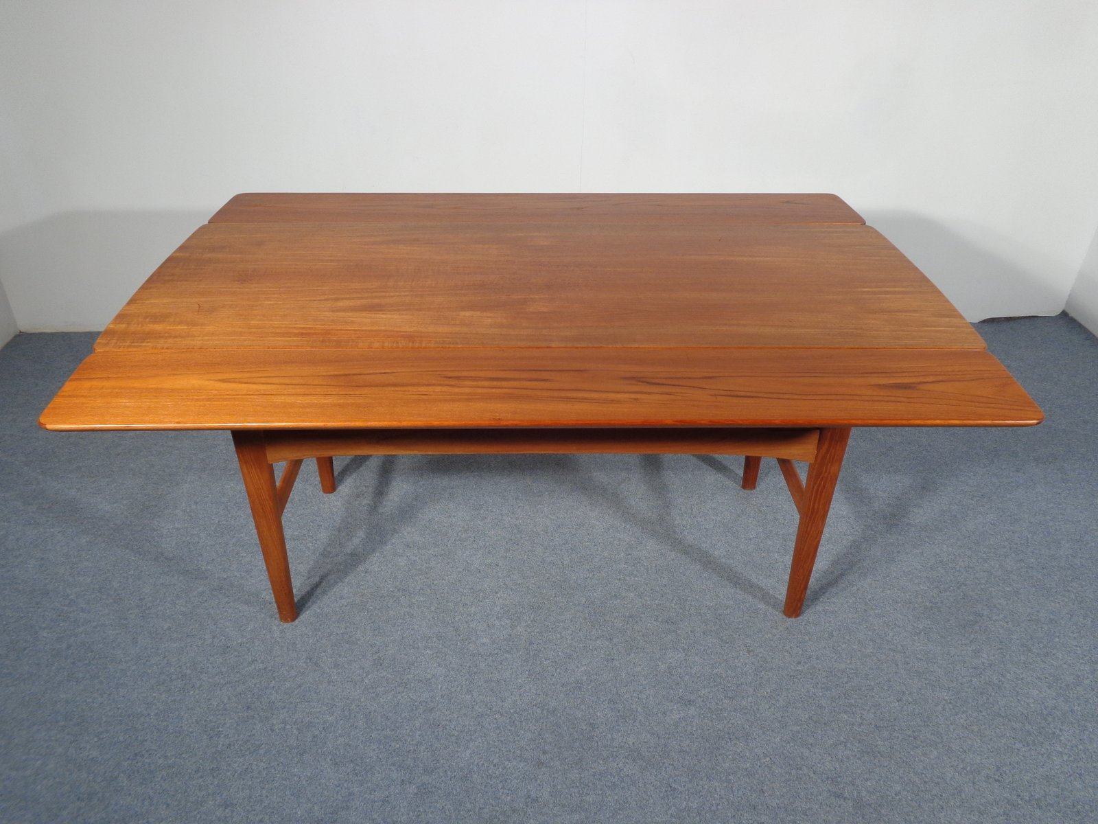Vintage Extendable Teak Table By Niels Bach