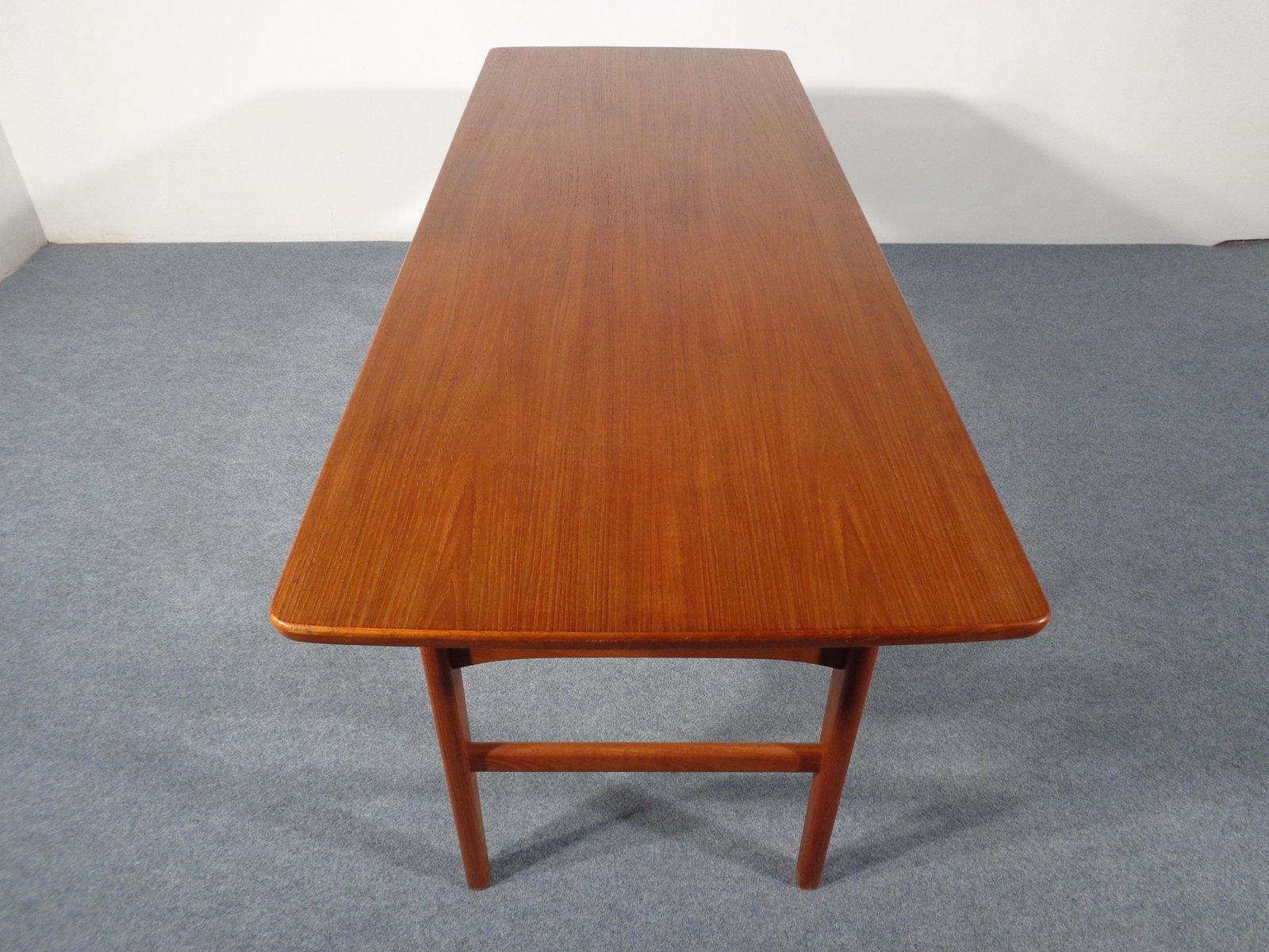 ausziehbarer vintage teak tisch von niels bach bei pamono kaufen. Black Bedroom Furniture Sets. Home Design Ideas