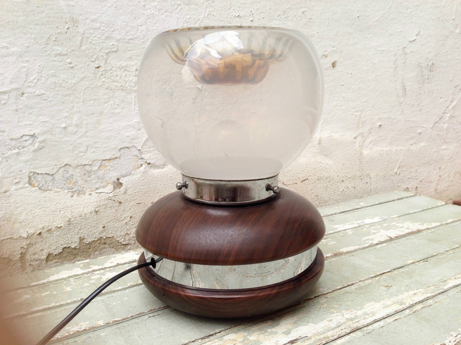Lampada da tavolo vintage in alluminio e vetro di murano di carlo nason per mazzega anni 39 60 in - Lampada da tavolo vintage ...