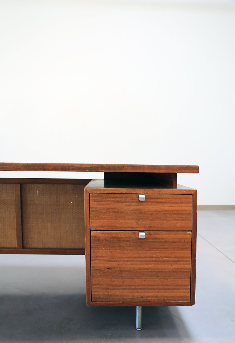 mid century schreibtisch von george nelson f r herman. Black Bedroom Furniture Sets. Home Design Ideas