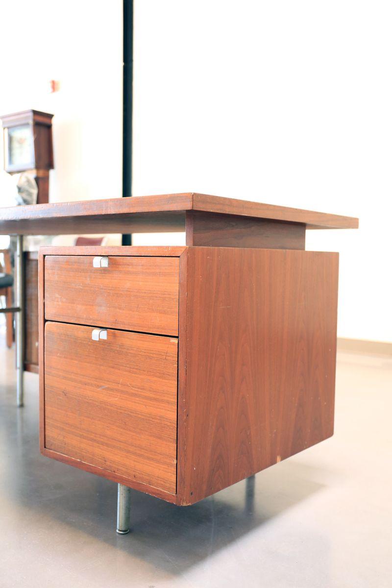mid century schreibtisch von george nelson f r herman. Black Bedroom Furniture Sets. Home Design Ideas