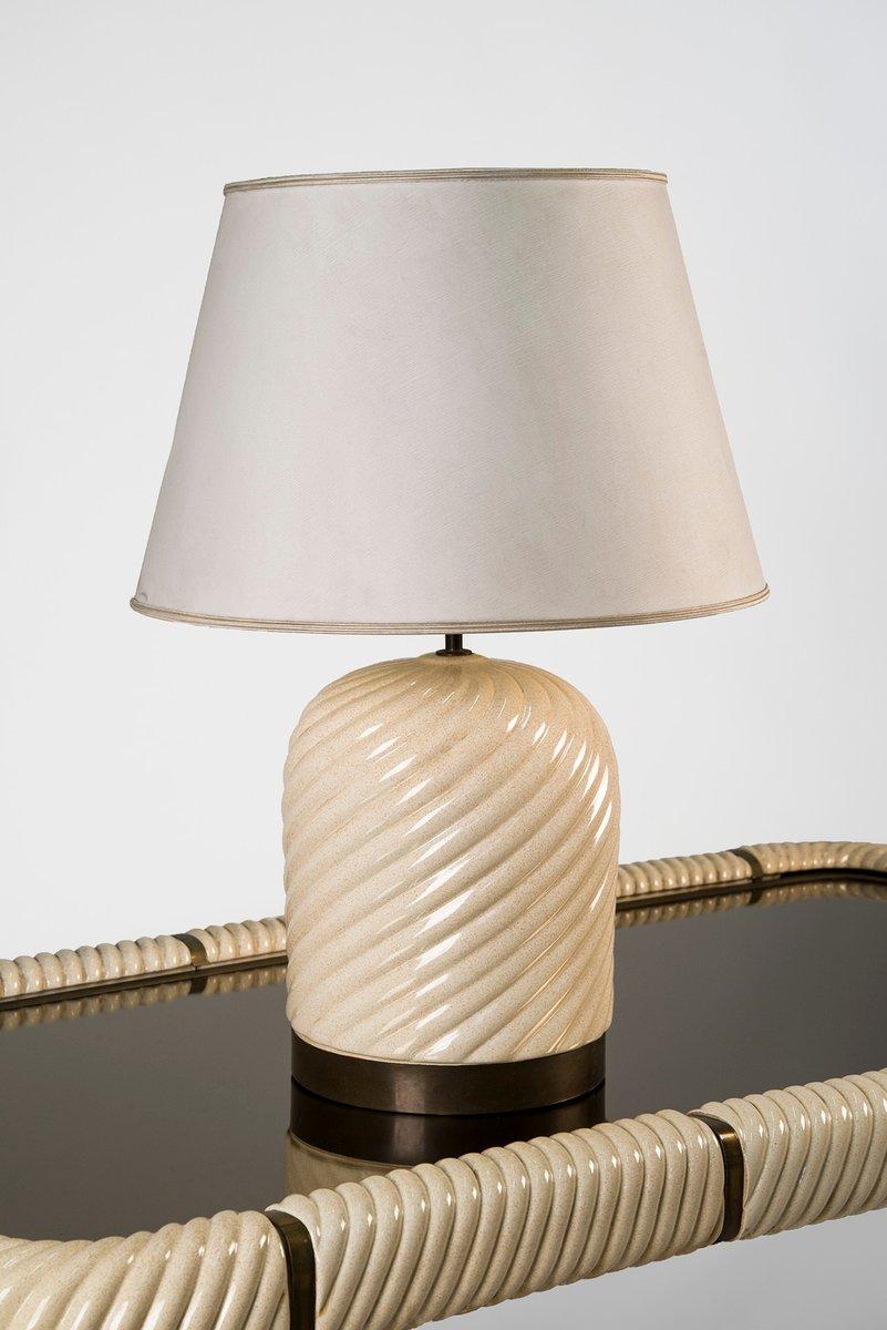 Keramik Tischlampe von Tommaso Barbi, 1970