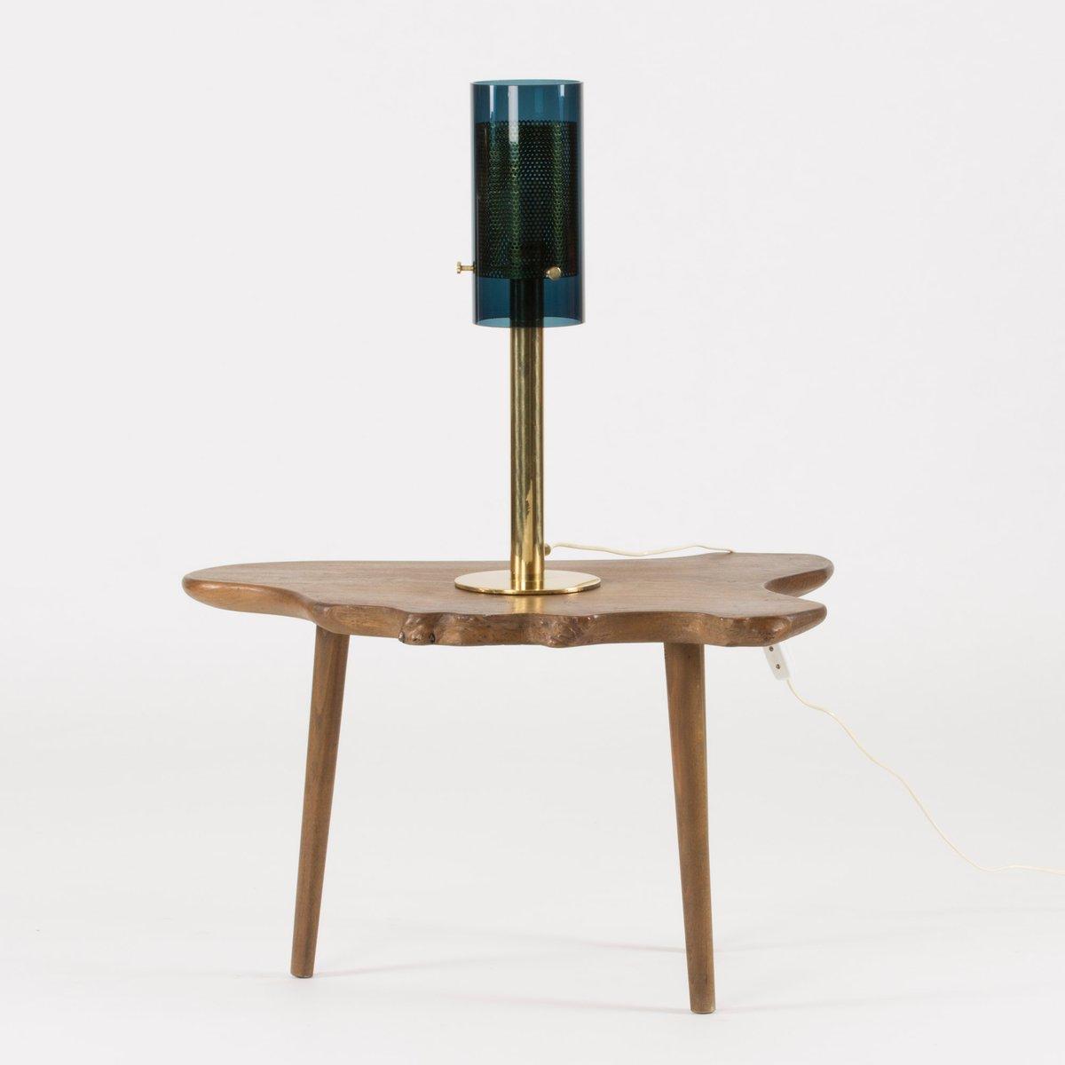 Messing & Glas Tischlampe von Hans-Agne Jakobsson, 1960er