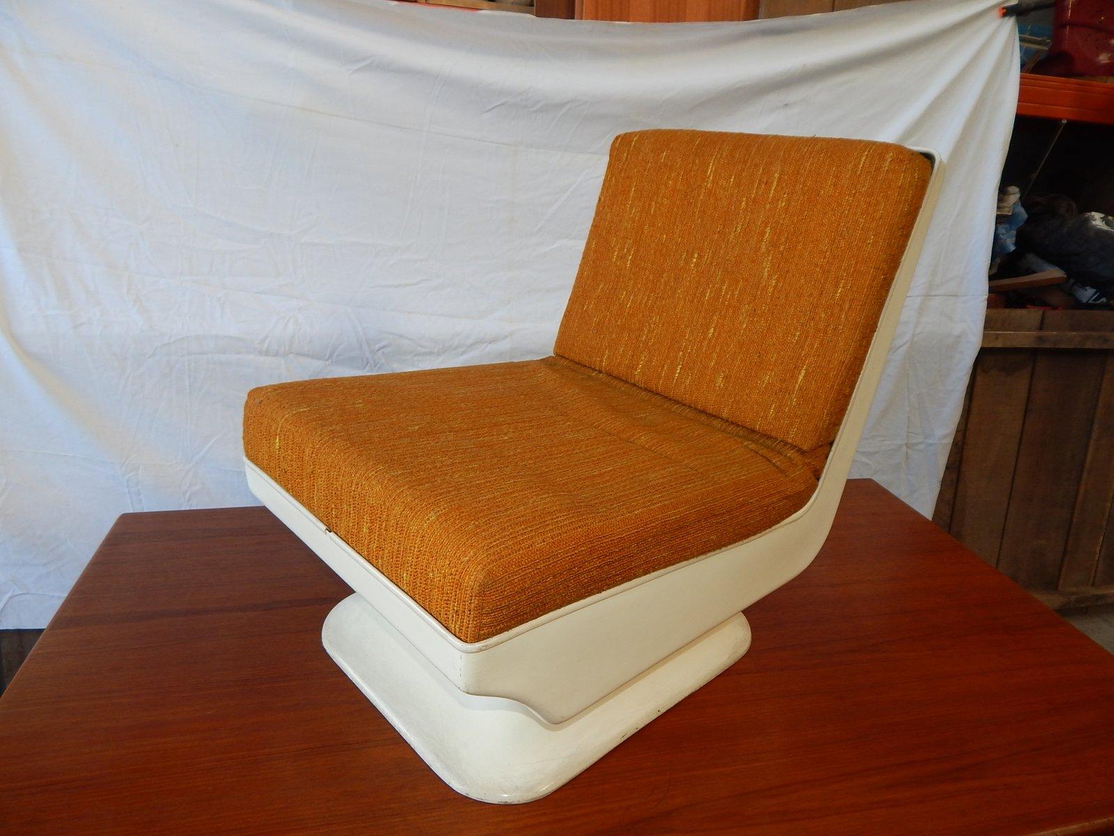 Vintage Kaminsessel mit Sitzschale aus Harz