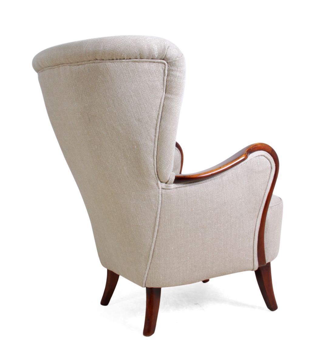 d nischer sessel 1940er bei pamono kaufen. Black Bedroom Furniture Sets. Home Design Ideas