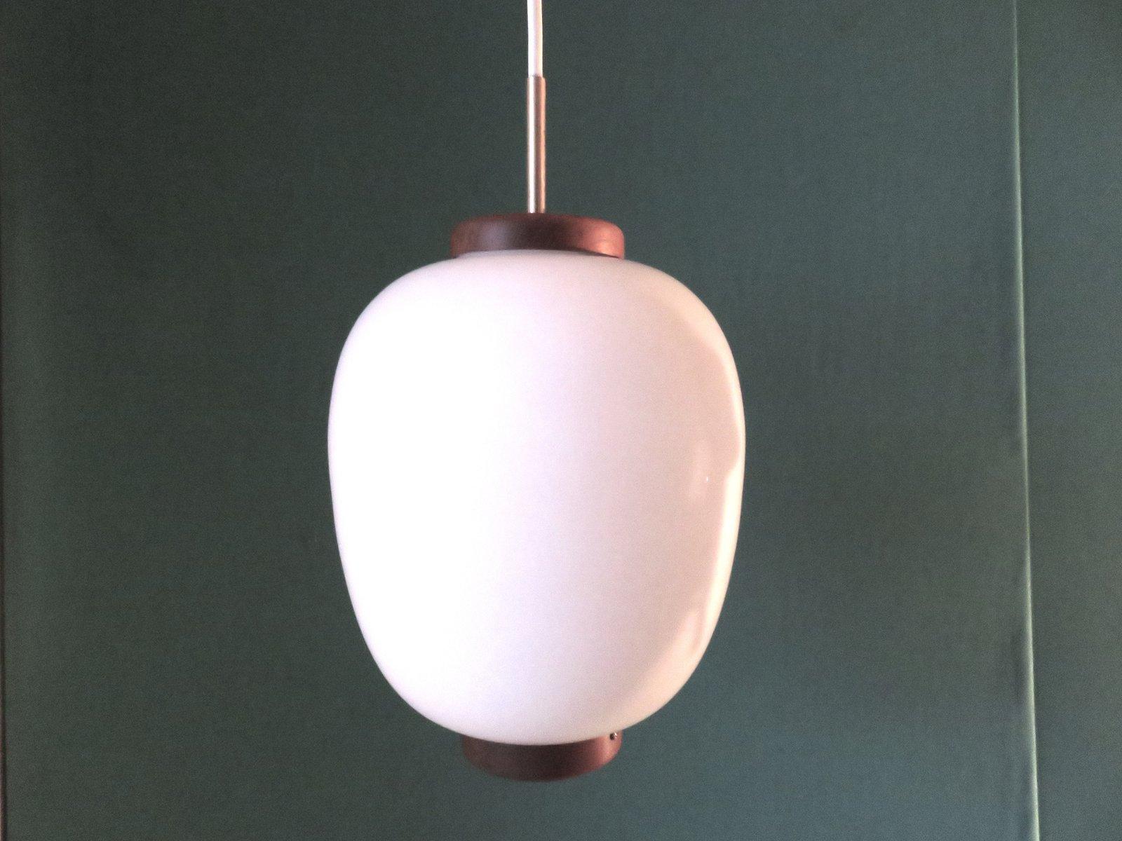 Dänische Opalglas Lampe von Bent Karlby für Lyfa, 1950er