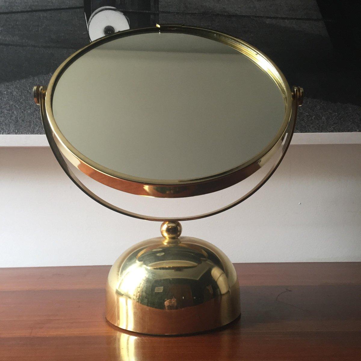 Specchio italiano in ottone anni 39 60 in vendita su pamono for A specchio in inglese