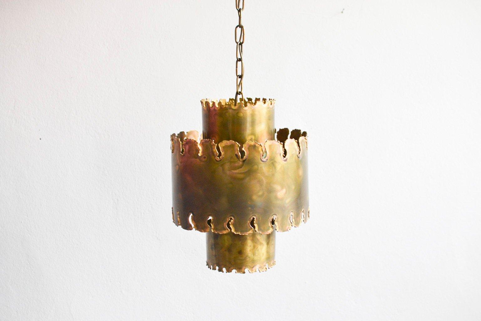 Brutalistische Vintage Hängelampe von Holm Sorensen