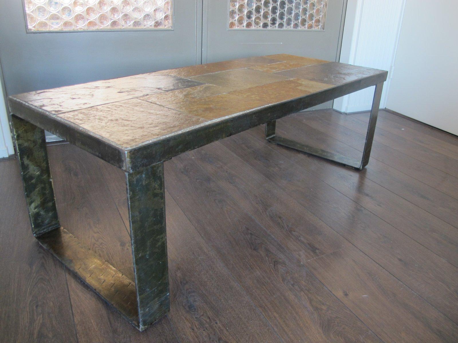 table basse brutaliste 1960 39 s en vente sur pamono. Black Bedroom Furniture Sets. Home Design Ideas